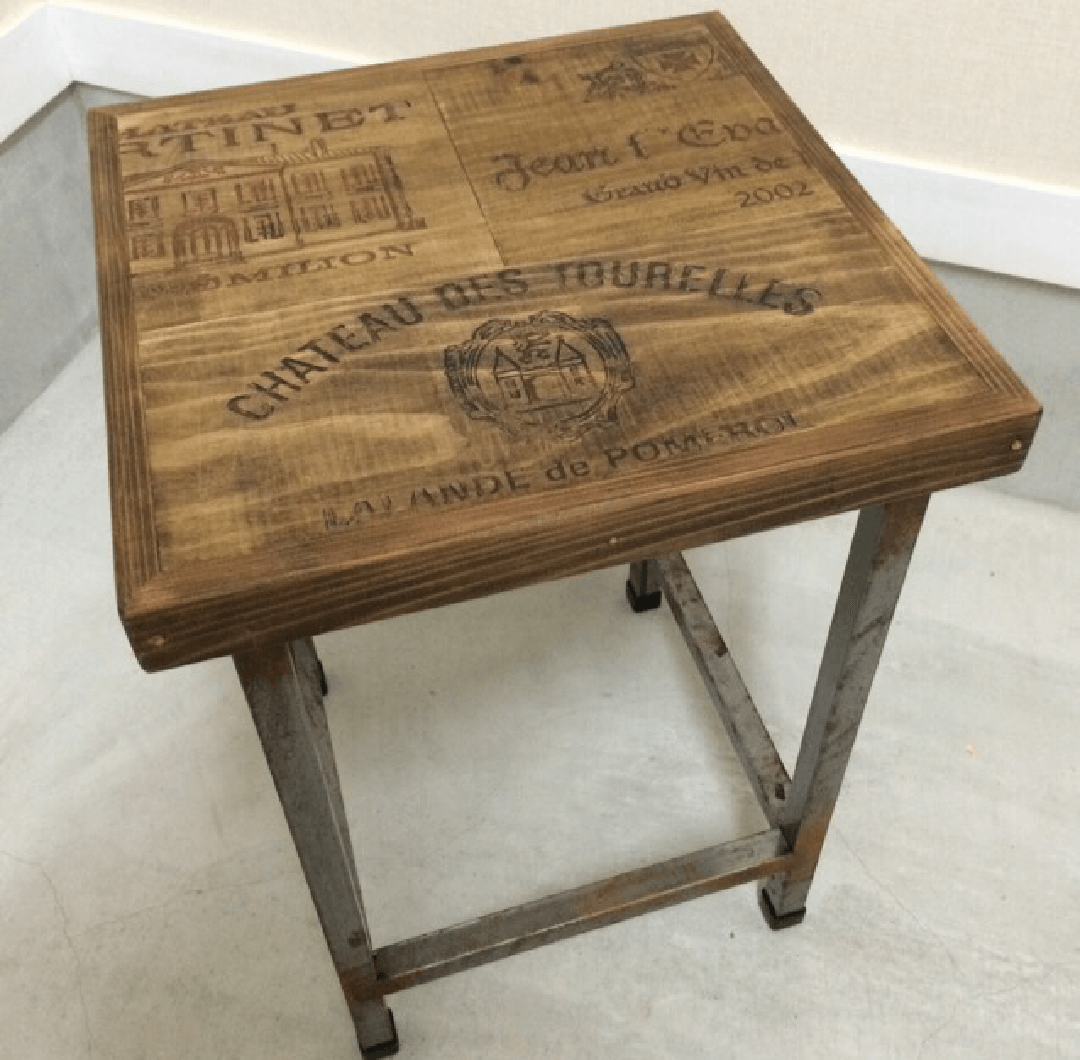 Wine Old wood side table|家具職人による完全ハンドメイドのインテリア・家具製作「BlueArch」(ブルーアーチ)
